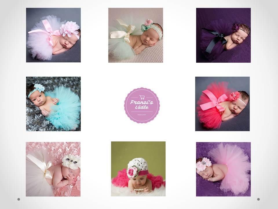 Baby Fotoshooting 2-teilig Kostüm Tüll Haarband mit Tütü