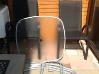 Garden table 4 chairs set