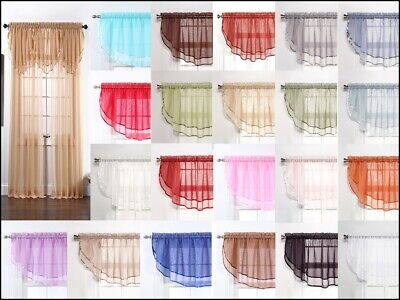 Sheers Voile Ascot Valance - 60