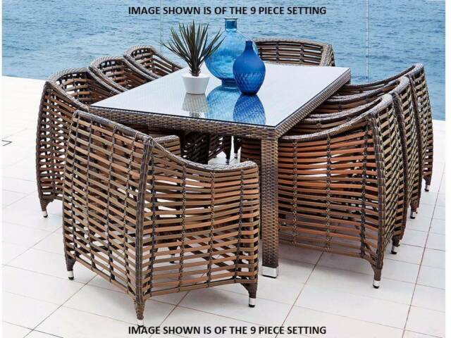 7 piece outdoor dining setting outdoor dining furniture for Outdoor furniture canberra