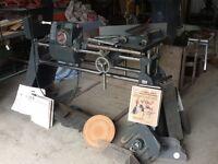 shop smith mark 5 woodworking lathe.