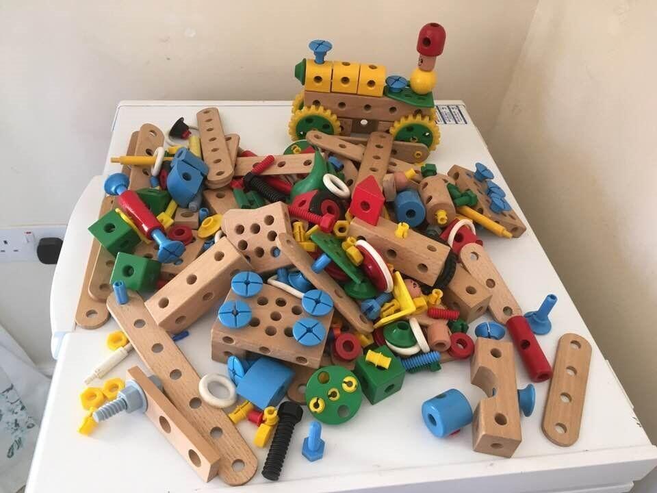 Large Brio Mec Wooden Construction Toy Bundle Can Post