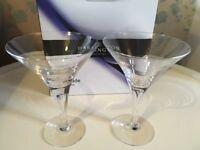 Two Dartington Martini Glasses in box
