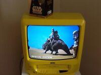 Jvc dvd tv, yellow retro