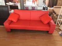 New Red Faux Leather Sofa Bed (FREE LOCAL DELIVERY!!!)