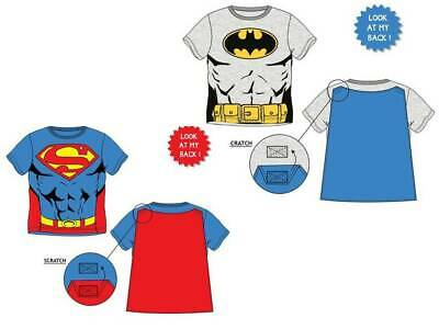 Superman / Batman T-Shirt Kurzarm 98-128 mit abnehmbarem Cape