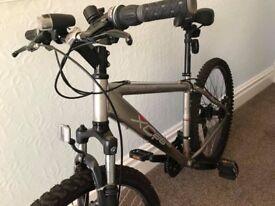Mountain Bike + Helmet + Bike Lock + Pump