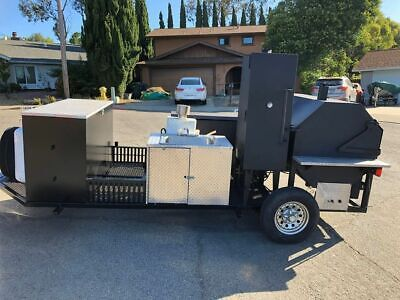 2012 5.5 X 22 Open Bbq Smoker Trailerbbq Tailgating Trailer For Sale In Calif