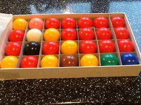 As New Snooker Balls