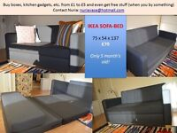 Ikea sofa bed - compact for London flat/studio