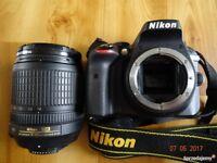 nikon d3300 with 18 105 lense for sale