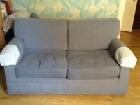 M&S light blue 2 Seater Sofa. Good condition
