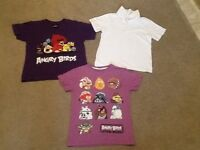 Age 7-8 tee shirts and school white polo,s