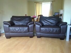 FREE Brown LEATHER arm chairs