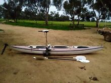 4m canoe with electric motor and paddles. Moulamein Wakool Area Preview