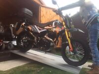 2016 PULSE ADRENALINE 250cc SUPERMOTO SCRAMBLER ENDURO TRAILS MOTORCYCLE - ONLY DONE 150 MILES