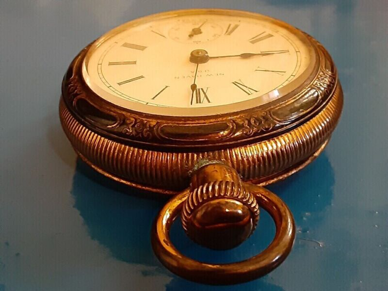 Exceptionally beautifull NEW HAVEN Vintage pocket watch .  Made in 1900.