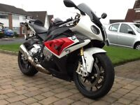 Bmw 1000 rr red white black 14 plate like new