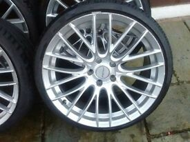 19 in alloy's with low low profile tyres for sale