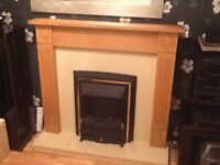 Electric fire &surround