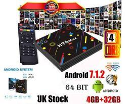 H96 MAX H2 Android 7.1 TV Box Quad Core RK3328 4GB 32GB 2.4G/5G WiFi Bluetooth