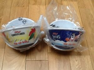 4 x Kelloggs  Tip & Sip cereal bowls.New sealed. Free delivery.