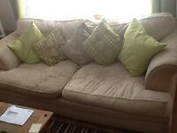 Here are two great 3 person sofa's in cream but well looked after