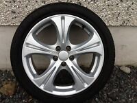 17INCH 5/100 ELITE ALLOY WHEELS WITH TYRES FIT VW SEAT TOYOTA ETC GOOD CONDITION