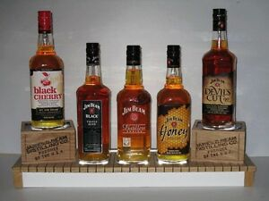 Jim Beam Bourbon brand new wooden 5 bottle LED light up glorifier display plinth