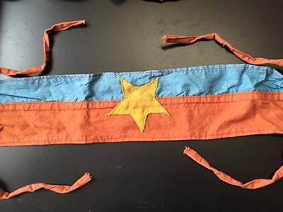 ARMBAND ,  NORTH VIETNAM , VC , Flag  , VIETNAM WAR armband , VIETCONG FLAG ,