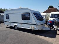 Elddis Cyclone XL 5 berth caravan 2001, Awning, Light to tow VGC !!