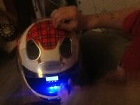 Replica motorcycle helmet sound system
