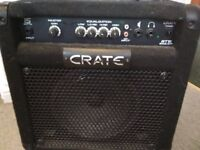Crate BT15 Combo Bass Amp. 15 Watts. Compact & in good condition.