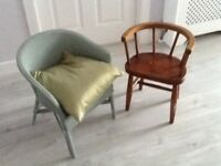 Vintage childrens chairs in good condition