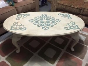 Solid wood Chalk Painted coffee table