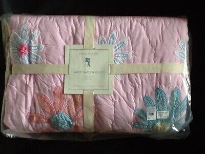 POTTERY BARN KIDS DAISY GARDEN  QUILT FULL/QUEEN PINK/BLUE (Daisy Kids Bedding)