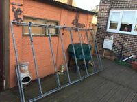 used heavy duty roof rack with back roller. Vivaro transit