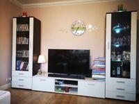 Wall unit living room furniture set