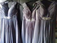 Bridesmaid prom dress grey size 14