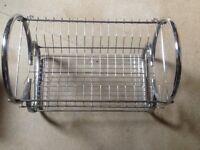 Chrome dish rack or drainer
