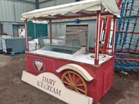 Catering trailer icecream display freezer equipment cart stand refrigeration