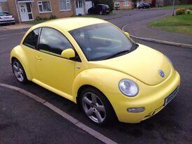 2001 51 Reg Volkswagen Beetle 2.3 V5, Petrol, (Only 583 left) Manual, 3 Door, Yellow, Long MOT
