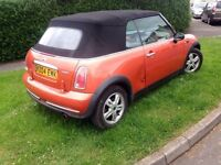 Mini convertible one 04 plate