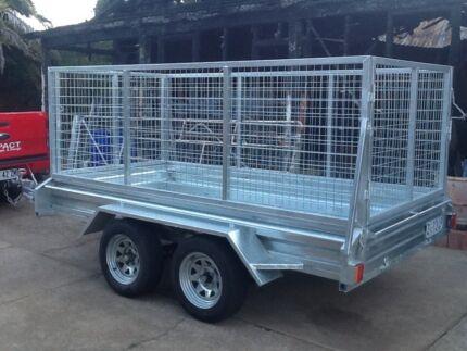 10x5 tandem trailer new 2015 build with cage 2 ton plant trailer Launceston Area Preview