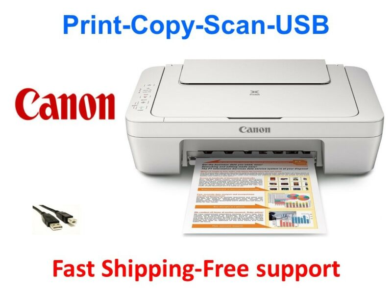 NEW Canon 2522 (3322) All-in-One Printer-Scan-Copy+Free USB-home School/work