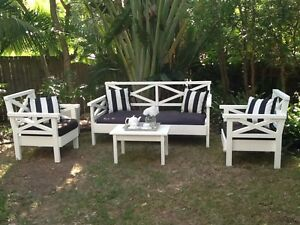 GORGEOUS Hamptons style Lounge Chairs - MADE TO LAST! Brisbane Region Preview
