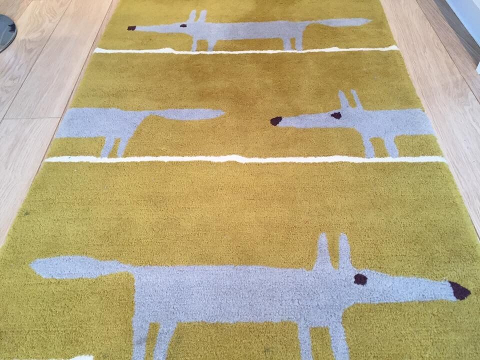 Scion Mr Fox Rug Mustard And Grey 150 X 90 In Yealmpton