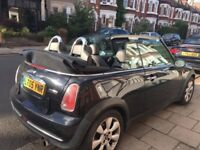 Mini Convertible with upgraded speakers, parking sensors, heated seats, leather trim