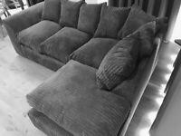 🔥Dylan Jumbocord Sofa 🔥 👉Corner Sofa and 3+2 seater sofa available👈