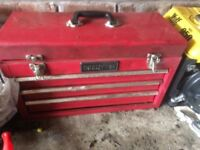 Challenge lockable tool box with tools